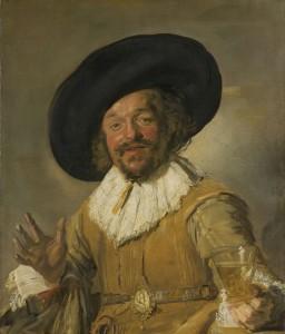 **De vrolijke drinker hangt in het Rijksmuseum.